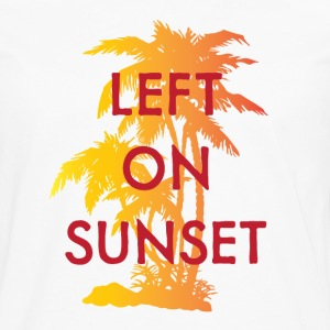 Left on Sunset Hoodies - Men's Premium Long Sleeve T-Shirt