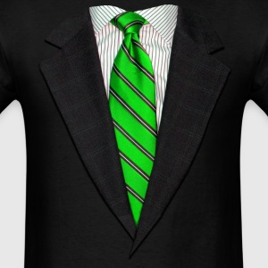 Realistic Suit and Tie Gr Long Sleeve Shirts - Men's T-Shirt
