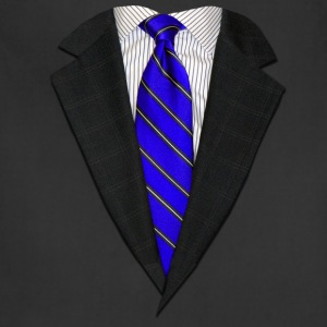 Suit and Tie Real Blue Long Sleeve Shirts - Adjustable Apron