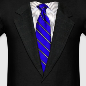 Suit and Tie Real Blue Long Sleeve Shirts - Men's T-Shirt