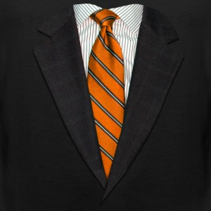 Orange Suit and Tie Kids' Shirts - Men's Premium Tank