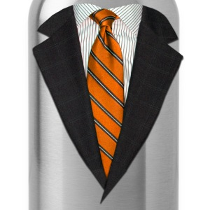 Orange Suit and Tie Long Sleeve Shirts - Water Bottle