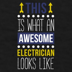 Awesome Electrician Professions T-shirt Mugs & Drinkware - Men's T-Shirt