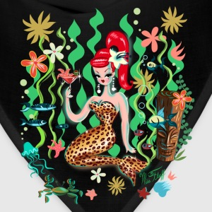 Leopard Martini Mermaid Women's T-Shirts - Bandana