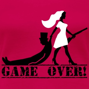 game over bride and groom Tanks - Women's Premium T-Shirt