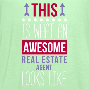 Awesome Real Estate Agent Professions T-shirt Women's T-Shirts - Women's Flowy Tank Top by Bella