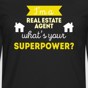 Real Estate Agent Superpower Professions T-shirt Women's T-Shirts - Men's Premium Long Sleeve T-Shirt