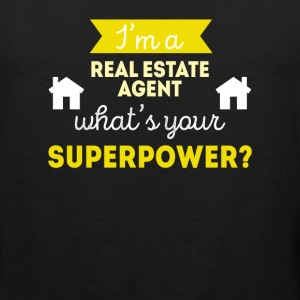Real Estate Agent Superpower Professions T-shirt Women's T-Shirts - Men's Premium Tank
