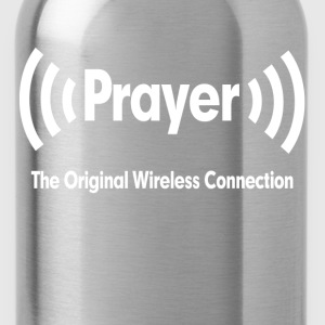 Prayer The Original Wireless Connection Religious Women's T-Shirts - Water Bottle