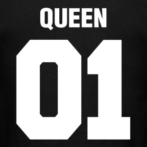 Queen 01 Wedding Couple Man Woman Hoodies - Men's T-Shirt