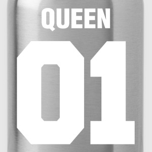 Queen 01 Wedding Couple Man Woman Hoodies - Water Bottle