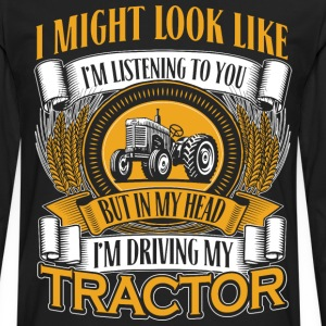 DRIVING MY TRACTOR - Men's Premium Long Sleeve T-Shirt