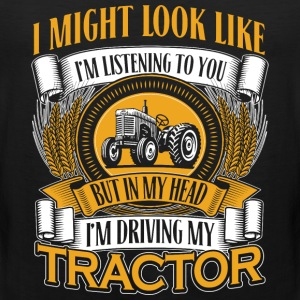 DRIVING MY TRACTOR - Men's Premium Tank