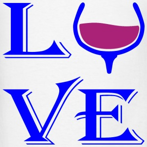 LOVE Wine Glass  - Men's T-Shirt