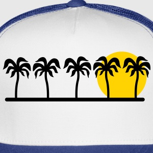 palm trees T-Shirts - Trucker Cap
