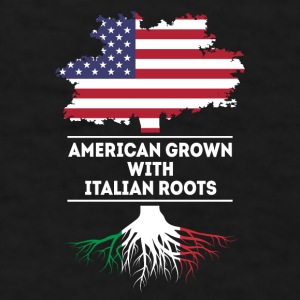 American grown with Italian roots [ver2] T Shirt Mugs & Drinkware - Men's T-Shirt