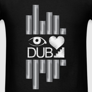 I Heart Dubstep Caps - Men's T-Shirt