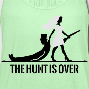the hunt is over bachelorette bachelor party bride T-Shirts - Women's Flowy Tank Top by Bella