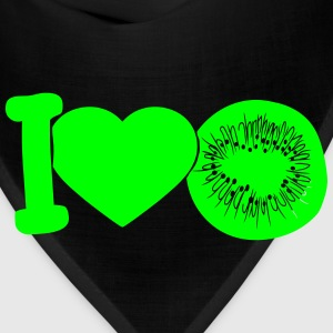 i love darling eat kiwi fruit tasty T-Shirts - Bandana
