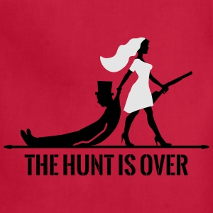 the hunt is over bachelorette bachelor party bride Bags & backpacks - Adjustable Apron