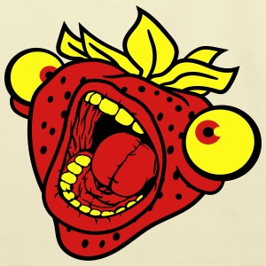 strawberry mouth screaming horror monster hallowee T-Shirts - Eco-Friendly Cotton Tote