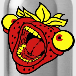 strawberry mouth screaming horror monster hallowee T-Shirts - Water Bottle