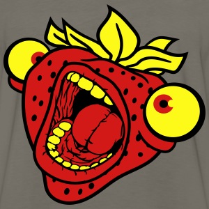 strawberry mouth screaming horror monster hallowee T-Shirts - Men's Premium Long Sleeve T-Shirt