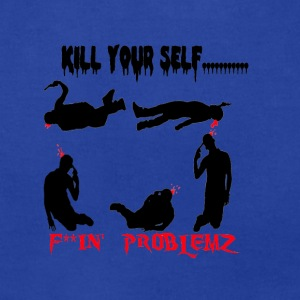 kill your self.png Hoodies - Men's T-Shirt by American Apparel