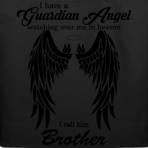 My Brother Is My Guardian Angel he Watches Over M T-Shirts - Eco-Friendly Cotton Tote