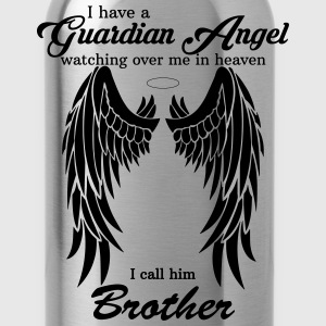My Brother Is My Guardian Angel he Watches Over M T-Shirts - Water Bottle