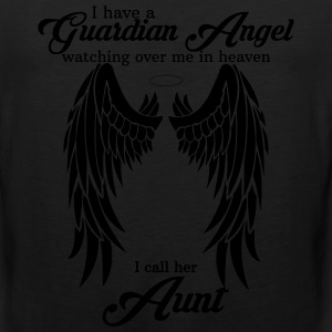 My Aunt Is My Guardian Angel Women's T-Shirts - Men's Premium Tank