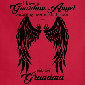 My Grandma  Is My Guardian Angel she Watches Over Women's T-Shirts - Adjustable Apron