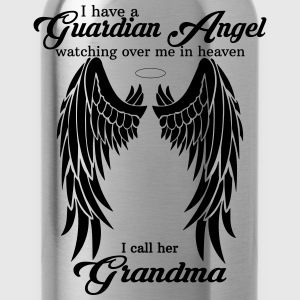 My Grandma  Is My Guardian Angel she Watches Over Women's T-Shirts - Water Bottle
