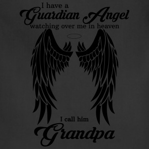 My Grandpa Is My Guardian Angel she Watches Over  T-Shirts - Adjustable Apron