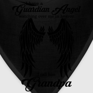 My Grandpa Is My Guardian Angel she Watches Over  T-Shirts - Bandana