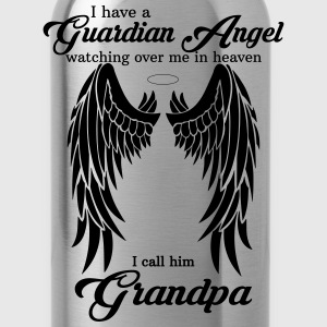 My Grandpa Is My Guardian Angel she Watches Over  T-Shirts - Water Bottle