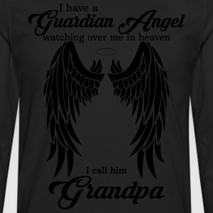 My Grandpa Is My Guardian Angel she Watches Over  T-Shirts - Men's Premium Long Sleeve T-Shirt