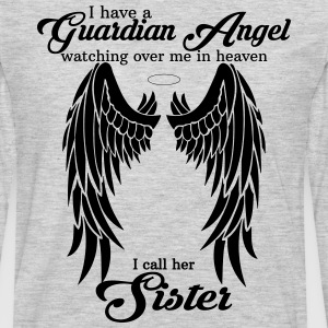 My Daughter Is My Guardian Angel She Watches Over Women's T-Shirts - Men's Premium Long Sleeve T-Shirt