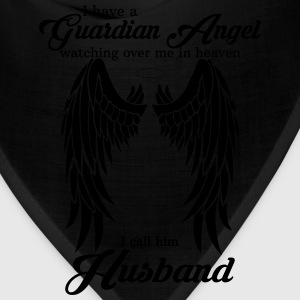 My Husband Is My Guardian Angel she Watches Over  T-Shirts - Bandana