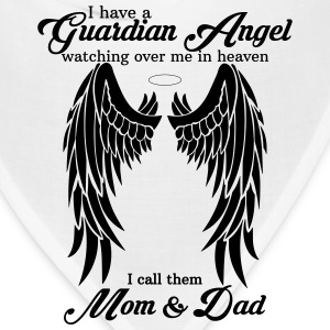 I Have a Guardian Angel Mom and Dad Women's T-Shirts - Bandana