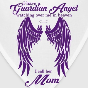 My Mom Is My Guardian Angel she Watches Over My B Women's T-Shirts - Bandana
