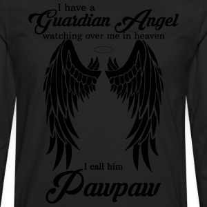 My Pawpaw Is My Guardian Angel she Watches Over My T-Shirts - Men's Premium Long Sleeve T-Shirt