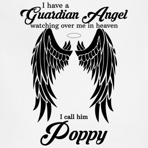 My Poppy Is My Guardian Angel she Watches Over My T-Shirts - Adjustable Apron
