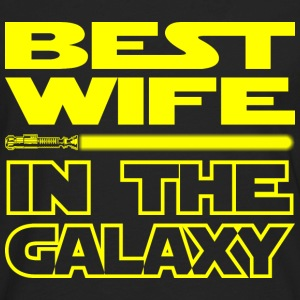 BEST WIFE IN THE GALAXY - funny star wars - Men's Premium Long Sleeve T-Shirt