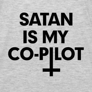 Satan is my co-pilot Hoodies - Men's Premium Long Sleeve T-Shirt