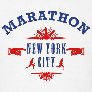 MARATHON Emblem New York City  - Men's T-Shirt