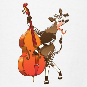 Cool Okapi Playing Double Bass Other - Men's T-Shirt