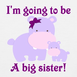 I'm going to be a big sister purple hippos with a  - Men's Premium Tank