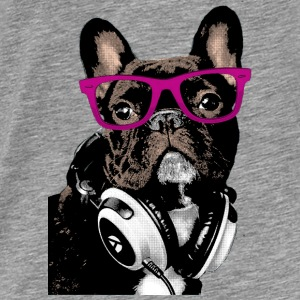 Hipster Frenchie Hoodies - Men's Premium T-Shirt