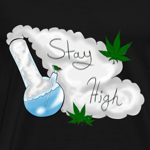 Stay High Black Tank - Men's Premium T-Shirt
